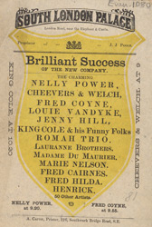 Advert for the South London Palace 1080
